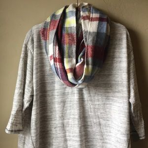 Accessories - Plaid infinity scarf